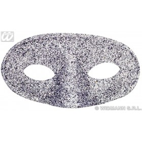 Glitter Acapulco Eyemask Silver - Fancy Dress