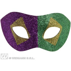 Mardi Gras Glitter Eyemasks - Fancy Dress