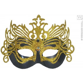 Black Gold Glitter 2 Layer Gran Carnevale Fancy Dress