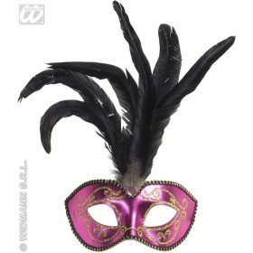 Gold Glitter Pink Eyemasks - Fancy Dress