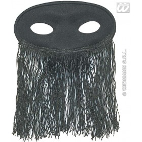 Eyemask Veiled Odalisque Black - Fancy Dress (Cultures)