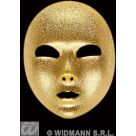Mask Gold Fabric Full Face - Fancy Dress