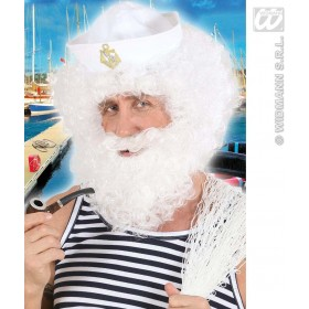 Character Curly Wig/Beard - White - Fancy Dress (Animals)