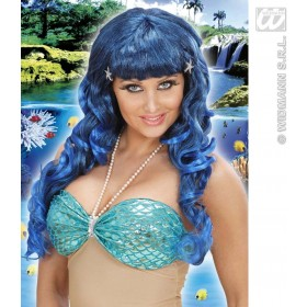 Mermaid Wig With Strass Shells In Polybag - Fancy Dress