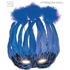 Lido Feather Mask 4 Colours - Fancy Dress