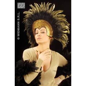 Moulin Rouge Feathered Headdress - Fancy Dress