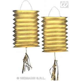 Lanterns Gold Metallic 25Cm - Fancy Dress