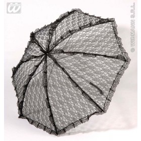 Parasol Lace 83Cm Black - Fancy Dress