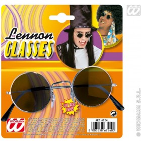 Lennon Glasses Black - Fancy Dress (Music)