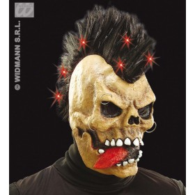 Skull Mask W/Fibre Optic Light Up Crest - Fancy Dress