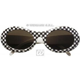 Glasses 60S Chequered - Fancy Dress (1960S)