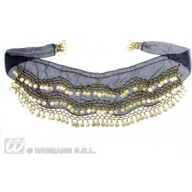 Belly Dancer Waist Sashes Black - Fancy Dress