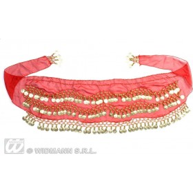 Belly Dancer Waist Sashes Red - Fancy Dress