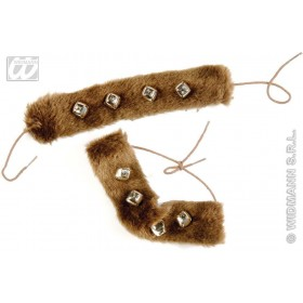 Rain Dance Plush Wrist/Ankle Cuffs - Fancy Dress
