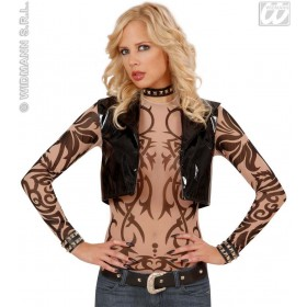 Tattoo Shirt Tribal Ladies Fancy Dress Costume