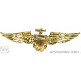 Aviator Brooch Gold - Fancy Dress