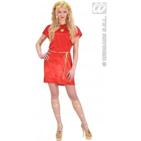 Red Tunic Fancy Dress Costume Mens (Roman)