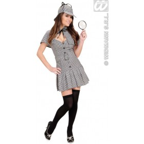 Detective With Dress, Belt, Capelet, Hat Fancy Dress (Cops/Robbers)