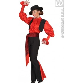 Spaniard Woman - Shirt, Vest, Pants, Belt, Hat Costume (Spanish)