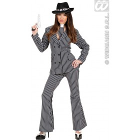 Gangster Woman With Jacket, Pants, Necktie Fancy Dress (1920S)