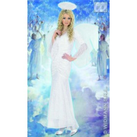 Velvet & Lace Angel Fancy Dress Costume Ladies (Christmas)