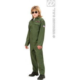 Heavy Fabric Fighter Jet Pilot Fancy Dress Costume Boys (Pilot/Air)