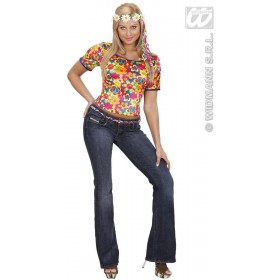 Velvet Hippie T - Shirt Fancy Dress Costume (1960S)
