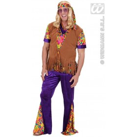 Suedelook Hippie Man M/L Vests W/Headband Costume (1960S)