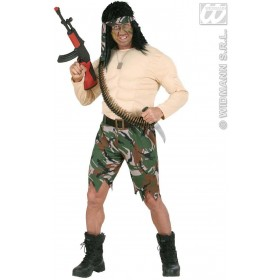 Supermuscle Soldier Fancy Dress Costume Mens (Army)