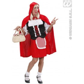 Xl Male Red Capelet Shirt & Corset, Red Riding hood Costume (Drag)