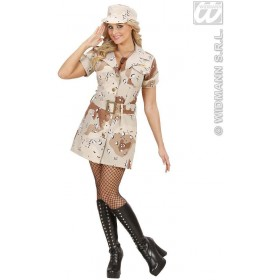 Desert Storm Soldier Girl Fancy Dress Costume Ladies (Army)