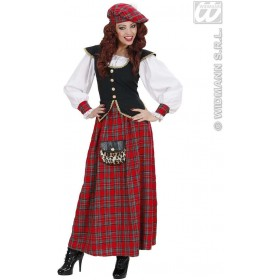 Heavy Fabric Scottish Lass Fancy Dress Costume Ladies (Cultures)