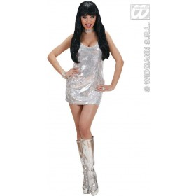 Silver Sequin Dress Fancy Dress Costume Ladies