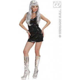 Black Sequin Dress Fancy Dress Costume Ladies