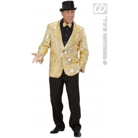 Gold Sequin Jacket Fancy Dress Costume Mens