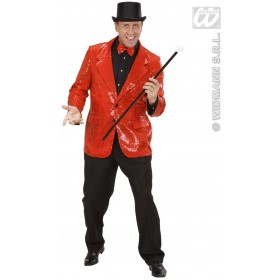 Red Sequin Jacket Fancy Dress Costume Mens