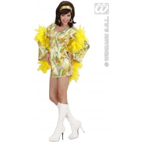 70S Mod Chick 3 Cols Fancy Dress Costume Ladies (1970S)