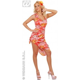 Hawaiian Dress Adult Costume Pink Fancy Dress Costume (Hawaiian)