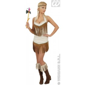 Indian With Dress, Headband Fancy Dress Costume Ladies (Cowboys/Indians)
