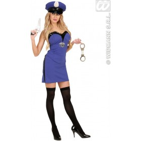 Police Girl With Top, Skirt, Hat Fancy Dress Costume (Cops/Robbers)
