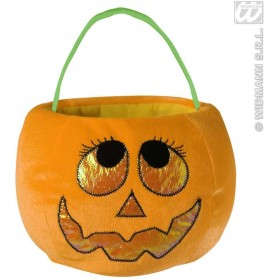 Velvety Pumpkin Handbags 4 Styles Ass - Fancy Dress (Halloween)