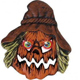 Scarecrow Heads W/Colour Changing Eyes - Fancy Dress (Halloween)