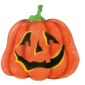 Pumpkin Wall Decorations 44X45Cm - Fancy Dress (Halloween)