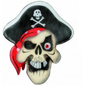 Pirate Skull Wall Decorations 48X56Cm - Fancy Dress (Pirates)