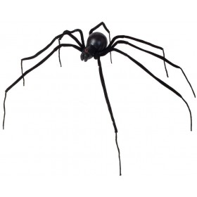 Bendable Black Spiders 110Cm - Fancy Dress (Halloween)