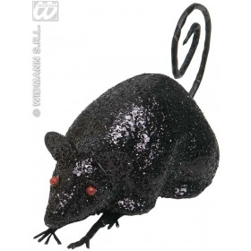 Black Glitter Mice 12Cm - Fancy Dress (Halloween)