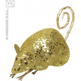 Gold Glitter Mice 12Cm - Fancy Dress (Halloween)