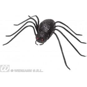 Black Glitter Spiders 15Cm - Fancy Dress (Halloween)