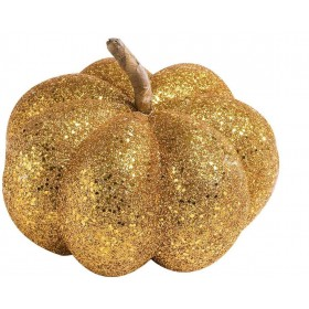 Orange Glitter Pumpkins 15Cm - Fancy Dress (Halloween)