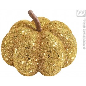 Gold Glitter Pumpkins 15Cm - Fancy Dress (Halloween)